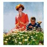 """Field of Dreams,""June 1, 1926 Giclee Print by McClelland Barclay"