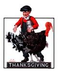 """Thanksgiving,""November 24, 1923 Giclee Print by J.F. Kernan"