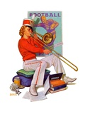 """Practicing the Trombone,""October 10, 1936 Giclee Print by Revere F. Wistehoff"