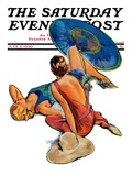 """Sunbathers,"" Saturday Evening Post Cover, July 5, 1930 Giclee Print by John LaGatta"