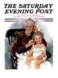 """Radio Days,"" Saturday Evening Post Cover, February 22, 1930 Giclee Print by Ellen Pyle"