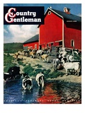 """When the Cows Come Home,"" Country Gentleman Cover, August 1, 1948 Giclee Print by J. Julius Fanta"