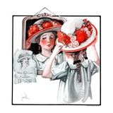 """Paris Fashions for Easter,""March 31, 1923 Giclee Print by F. Lowenheim"