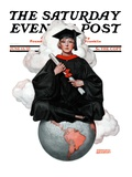 """Graduate on Top of the World,"" Saturday Evening Post Cover, June 13, 1925 Giclee Print by Edmund Davenport"