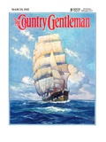 """Three Masted Schooner,"" Country Gentleman Cover, March 1, 1932 Giclee Print by Anton Otto Fischer"