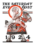 """Sir Baby New Year,"" Saturday Evening Post Cover, December 29, 1923 Giclee Print by J.C. Leyendecker"