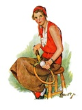 """Woman Tennis Player,""August 20, 1932 Giclee Print by Ellen Pyle"