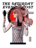 """Egyptian Queen,"" Saturday Evening Post Cover, October 6, 1923 Giclee Print by Joseph Christian Leyendecker"