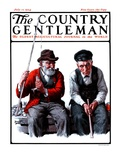 """""""Old Men Fishing,"""" Country Gentleman Cover, July 12, 1924 Giclee Print by Harold Brett"""