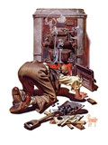 """Stoking the Furnace,""October 15, 1938 Giclee Print by Joseph Christian Leyendecker"