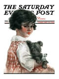 """Bandaged Paw,"" Saturday Evening Post Cover, February 10, 1923 Giclee Print by Robert H. Ransley"