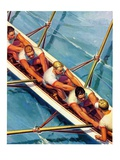 """Scullers,""June 25, 1938 Giclee Print by Michael Dolas"