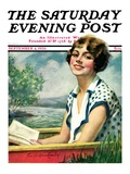 """Summer Reading,"" Saturday Evening Post Cover, September 4, 1926 Giclee Print by Bradshaw Crandall"