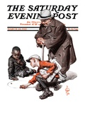 &quot;Marbles Game,&quot; Saturday Evening Post Cover, March 28, 1925 Giclee Print by J.C. Leyendecker