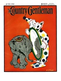 """Clown and Elephant,"" Country Gentleman Cover, June 1, 1932 Giclee Print by W. P. Snyder"