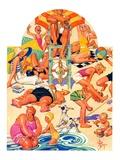 """King of the Beach,""September 3, 1932 Giclee Print by Joseph Christian Leyendecker"