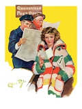 """Reading Her Mail,""February 22, 1936 Giclee Print by Ellen Pyle"