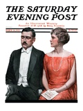 """Sleeping it Opera,"" Saturday Evening Post Cover, March 24, 1923 Giclee Print by Charles A. MacLellan"
