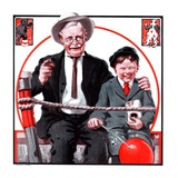 &quot;At the Circus with Grandfather,&quot;May 5, 1923 Giclee Print by J.F. Kernan