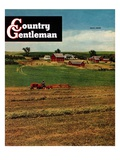 """Alfalfa Field,"" Country Gentleman Cover, July 1, 1948 Giclee Print by Herb Zeck"