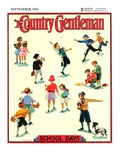"""Back to School,"" Country Gentleman Cover, September 1, 1932 Giclee Print by Kraske"
