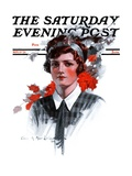 """Woman in Tie,"" Saturday Evening Post Cover, November 15, 1924 Giclee Print by Charles A. MacLellan"