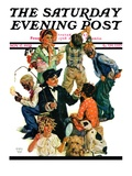 """Costumes for Play,"" Saturday Evening Post Cover, November 17, 1928 Giclee Print by Eugene Iverd"