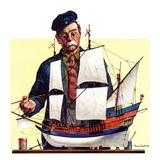 """""""Model Ship,""""October 5, 1935 Giclée-tryk af Gordon Grant"""