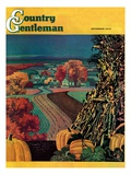 """Thanksgiving Harvest at Night,"" Country Gentleman Cover, November 1, 1945 Giclee Print by Francis Chase"