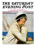 """Daydreams at Sea,"" Saturday Evening Post Cover, March 20, 1926 Giclee Print by Clarence F. Underwood"