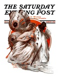 &quot;Kissing Winter Goodby,&quot; Saturday Evening Post Cover, March 7, 1925 Giclee Print by Paul Stahr