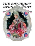 """Lace Valentine,"" Saturday Evening Post Cover, February 15, 1930 Giclee Print by Elbert Mcgran Jackson"