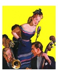 """Big Band and Songstress,""April 15, 1939 Giclee Print by Emery Clarke"