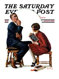 """Guessing Game,"" Saturday Evening Post Cover, July 9, 1927 Giclee Print by Revere F. Wistehoff"