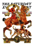 """Fall Foxhunting,"" Saturday Evening Post Cover, October 19, 1929 Giclee Print by J.C. Leyendecker"