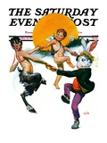 """Dancing in Spring,"" Saturday Evening Post Cover, March 16, 1929 Giclee Print by Sam Brown"