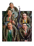 """Singing Men in Raccoon Coats,""November 16, 1929 Giclee Print by Alan Foster"