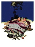 """Camping Out,""August 13, 1938 Giclee Print by Douglas Crockwell"