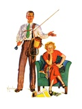 """Whose Vacation,""July 25, 1936 Giclee Print by R.J. Cavaliere"