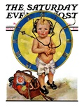 """Baby Pilot,"" Saturday Evening Post Cover, January 28, 1928 Giclee Print by Ellen Pyle"