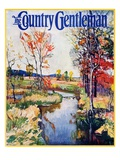 """Stream in Autumn,"" Country Gentleman Cover, October 1, 1933 Giclee Print by Walter Baum"