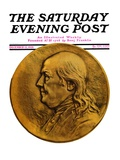 """Two Hundredth Anniversary Number,"" Saturday Evening Post Cover, December 15, 1928 Giclee Print by Julio Kilenyi"