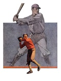 """Shadow Batter,""October 8, 1932 Giclee Print by John E. Sheridan"
