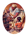 """Basting the Turkey,""November 28, 1936 Giclee Print by Joseph Christian Leyendecker"