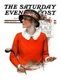 """Kindly Replace Turf,"" Saturday Evening Post Cover, September 22, 1923 Giclee Print by Charles A. MacLellan"