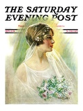 &quot;September Bride,&quot; Saturday Evening Post Cover, September 25, 1926 Giclee Print by William Haskell Coffin