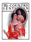 """Ancestral Shawl,"" Country Gentleman Cover, October 18, 1924 Giclee Print by Sam Brown"