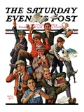 """School's Out,"" Saturday Evening Post Cover, June 25, 1927 Giclee Print by Eugene Iverd"