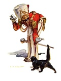 """Drum Major and Black Cat,""May 28, 1938 Giclee Print by Samuel Nelson Abbott"