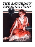 """Woman and Phonograph,"" Saturday Evening Post Cover, March 21, 1925 Giclee Print by Pearl L. Hill"